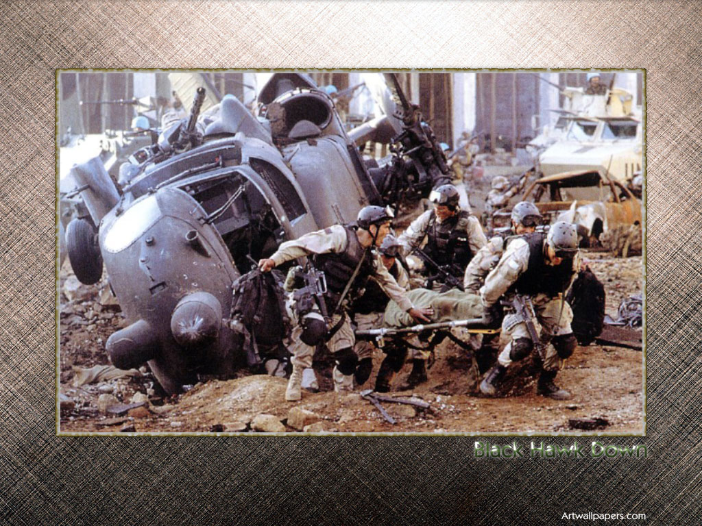 a review of the movie black hawk down Most people probably think this battle was called black hawk down, the name of the book that the movie is based on in fact, it has a name - the first battle of.